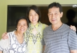 Edna Gadil with Fele and husband.