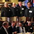 (top) Apostolic Nuncio His Excellency Archbishop Tito Yllana, Jewry Director Peter Wertheim, AM, Archbishop Christopher Prowse of Canberra and Father Varghese Vavolil at the ACU Interfaith Breakfast at the Old Parliament.   (bottom) Prime Minister Tony Abbott and Apostolic Nuncio Tito  Yllana at the Interfaith Breakfast.