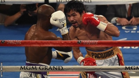 Manny Pacquiao was fighting for the first time since his defeat by Floyd Mayweather last May